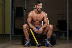 Портрет физически приспособленного человека Стоковые Изображения RF