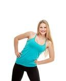 Портрет фитнеса женщины наклон тела Стоковое Изображение RF
