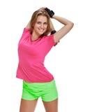Портрет фитнеса женщины симпатичная тренировка Стоковое Фото