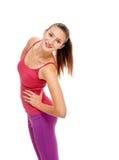 Портрет фитнеса женщины тренировка потехи Стоковая Фотография