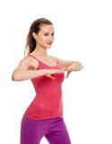 Портрет фитнеса женщины тренировка Стоковое Изображение RF