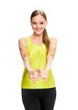 Портрет фитнеса женщины тренировка Стоковая Фотография RF