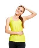 Портрет фитнеса женщины тренировка Стоковое Изображение