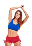 Портрет фитнеса женщины тренировка Стоковые Фото