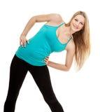 Портрет фитнеса женщины тренировка Стоковые Изображения RF