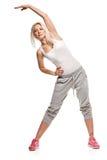 Портрет фитнеса женщины трудная тренировка Стоковая Фотография RF