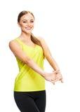 Портрет фитнеса женщины Стоковые Фотографии RF