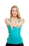 Портрет фитнеса женщины Стоковое Фото