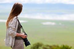 портрет фотографа природы стоковое изображение rf