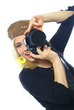 портрет фотографа Стоковое фото RF