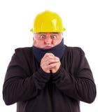 Портрет холода работника терпя Стоковые Фото