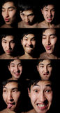 портрет цвета эмоциональный Стоковые Фотографии RF