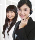 портрет центра телефонного обслуживания женский успешный Стоковая Фотография RF