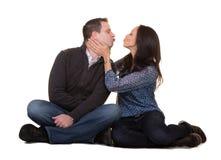 Портрет целовать пар Стоковая Фотография RF