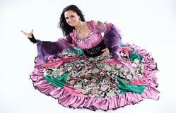 Портрет цыганского танцора в национальном костюме Стоковая Фотография