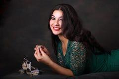 Портрет цыганской девушки Стоковая Фотография