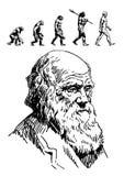 Портрет Чарлза Дарвина иллюстрация вектора