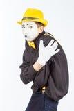 Портрет человека, актера, пантомимы, человек делает a Стоковое Изображение RF