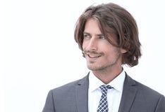 Портрет человека одетого колодцем уверенного стоковая фотография rf