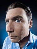 портрет человека подозрительный Стоковая Фотография RF