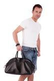 портрет человека сумки возмужалый стоковое изображение rf