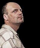 портрет человека утончает unshaven Стоковые Изображения RF