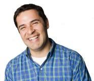 портрет человека latino смеясь над Стоковое Изображение