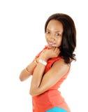 Портрет черной девушки. Стоковое фото RF