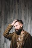 Портрет человека битника Стоковые Фото