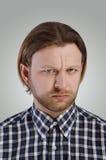 Портрет человека в вскользь рубашке Стоковая Фотография