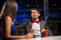 Портрет человека в ночном клубе Стоковые Фото