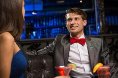 Портрет человека в ночном клубе Стоковые Изображения