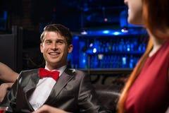 Портрет человека в ночном клубе Стоковое Изображение RF