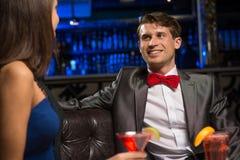 Портрет человека в ночном клубе Стоковое фото RF