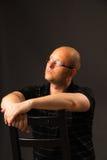 Портрет человека в стеклах Стоковое Фото