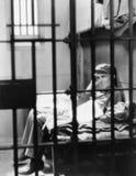 Портрет человека в тюрьме (все показанные люди более длинные живущие и никакое имущество не существует Гарантии поставщика что та Стоковые Изображения RF