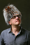 Портрет человека в шляпе очарования Стоковые Изображения