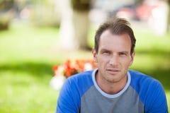 портрет человека задумчивый Стоковые Фотографии RF