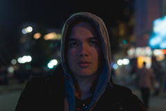 Портрет человека ночи Стоковое фото RF