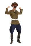 Портрет человека одетого как воинский диктатор. Изолированный Стоковые Изображения