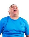 Портрет человека смеясь над hysterically Стоковое фото RF