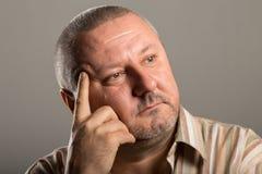 Портрет человека с думать бороды Стоковое Изображение RF