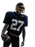 Портрет человека футболиста защитника американский Стоковые Изображения RF