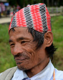 Портрет человека Gorkha от Сиккима Стоковые Изображения RF