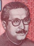 Портрет шейха Mujibur Rahman Стоковое фото RF