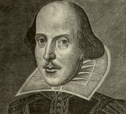 портрет Шекспир william Стоковое Изображение RF