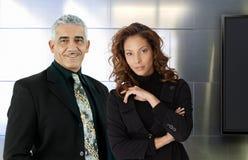 Портрет шикарных предпринимателей стоковое изображение rf