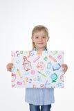 Портрет школьницы meticoluos Стоковые Изображения