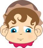 портрет шлема младенца милый Стоковые Фото