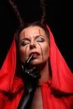 Портрет дьявола с рожками фантазия проект путя клиппирования искусства изолированный дьяволом halloween Стоковые Изображения RF
